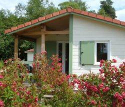 Houten chalet in de Vosges, camping Au Clos de la Chaume