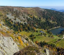 Camping Clos De La Chaume: Panoramisch Uitzicht van het Natuurpark Ballons des Vosges