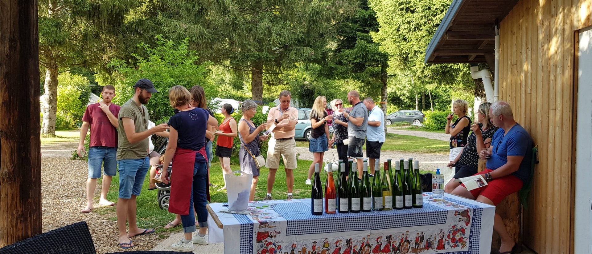 Camping Clos De La Chaume : Dégustation Vin Alsace en Haute Saison en camping Vosges